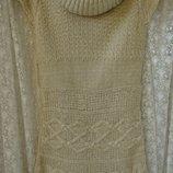 Платье теплое вязаное акрил бренд Jane Norman р.40-42 3963