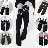 Модные хлопковые колготки с Hello Kitty, кошечками, кроликами, минимаус, мишками, р. 80-140см