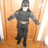 Карнавальный новогодний костюм Бетмен для мальчика 4-5 лет