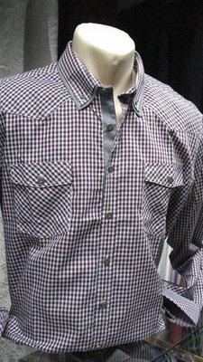 Рубашка в мелкую клетку п/п Lobato