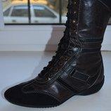Демисезонные кожаные сапоги Geox р. 39 по стельке 24,5 см