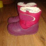 quenchua теплые сапоги для девочки 22-23