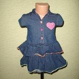 Стрейчевое джинсовое платье на 1,5-2 года