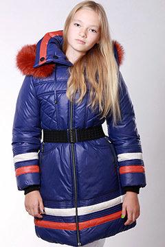 Пальто зимнее Алина Тм Zalexa, натуральный мех, 146 в наличии