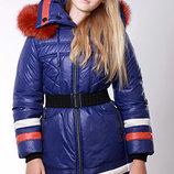 Распродажа пальто зимнее Алина Тм Zalexa, натуральный мех, 146 в наличии