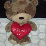 фирменная мягкая игрушка большой Медвежонок ручной работы Hugs Англия 44 см