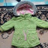 Фирменная куртка Marks & Spencer для малышки дюймовочки