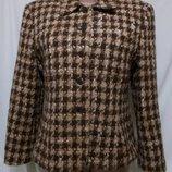 Пальто клетчатое шерстяное мохер, альпака Бренд Jones New York 44р