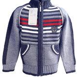 Теплые фирменные кофты для мальчиков, ADA, Турция, полушерсть, 1-6 лет