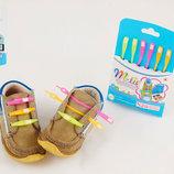 Силиконовые шнурки неоновые для обуви 6 цветов