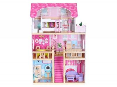 Кукольный домик с мебелью из дерева