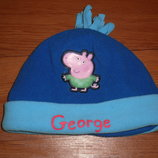 шапка свинка пеппа джордж на 2-5лет флис