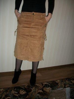 юбки микровельвет миди разные размеры