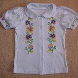 Новые блузки-вышиванки для девочек