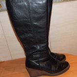 Зимние кожаные сапоги для женщины , размер 39-40