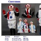 Продам красивый ,яркий костюм Карнавальный костюм Снеговик, снеговика 3-13лет от 98см до 146см