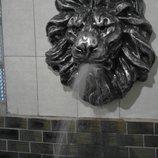 Декоративный элемент для фасадов барельеф голова льва