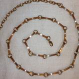 Оригинальный женский пояс из металла под золото