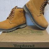 Зимние ботинки Тopland натур.нубук натур. мех р.37-41