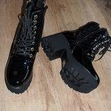 ботинки женские, на тракторной подошве, утепленные
