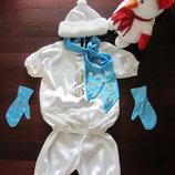 Прокат костюма Снеговик 5-6 лет