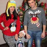 Новогодний свитер кофта яркий стильный олень санта дед мороз Как Новый