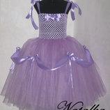 Карнавальное платье из фатина Рапунцель