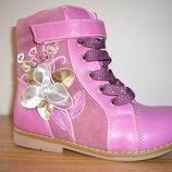 Зимние ортопедические кожаные сапоги для девочек
