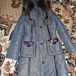 Зимняя куртка в хорошем состоянии подойдет на размер 42-44.