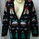 Кофта женская теплая зимняя бренд Pecocks р.50-52 4129