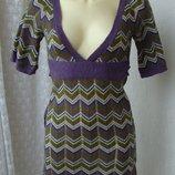 Платье теплое вязаное мини бренд Clockhouse р.40-42 4146