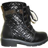 Ботинки черные зимние для девочки
