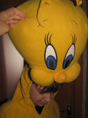 Карнавальный костюм птички Твити взрослый.