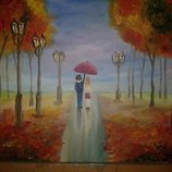Картина маслом на холсте Осень