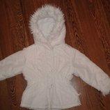 демисезонная куртка Глория Джинс с рукавичками, рост 92