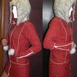 скидка HOOCH брендовая курточка пальто мех карюшон