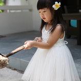 Зимой Снежинка - летом Принцесса нарядное платье 80-140