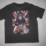 крутая футболка на 1,5-2 года с Шимпанзе