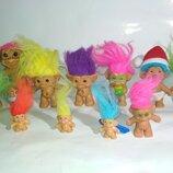 Цена за 11.коллекционная винтажная кукла коллекционный троль тролик чудик пупс