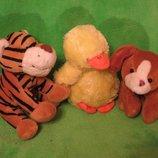 Тигр.Утка.Собачка.Мягкая игрушка.Мягка іграшка.Мягкие игрушки.TESCO