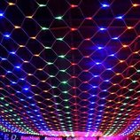 Новогодняя LED гирлянда сетка 1,5х1,4м