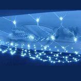 Новогодняя светодиодная прозрачная LED гирлянда сетка 3х0.8 м
