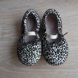 туфли мокасины балетки 14,5 см детские Австралия оригинал BLOCH кожа замша леопард