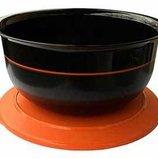 Чаша 3,5 л в чёрно-оранжевом цвете из Сервировочной коллекции.