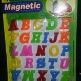 Новый набор букв английский, русский, украинский алфавит на магнитах