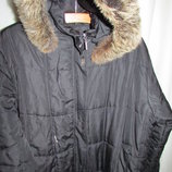 пальто б/у пуховик XL XXL