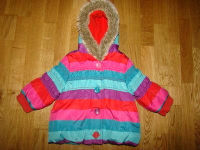 Яркая демисезонная куртка Next на 9-12 мес. рост 80 см