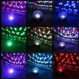 Светодиодный диско шар проектор MP3 блютуз пульт светомузыка