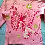 Розовая кофта,реглан со стразами на девочку.