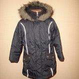 Теплая удлиненная куртка, пальто Next на 5-7 лет